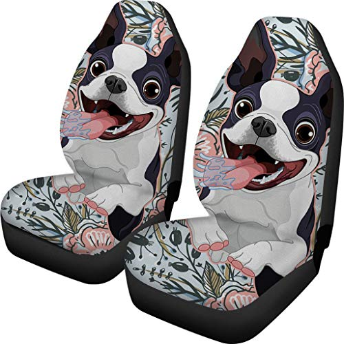 Boston Terrier Print Car Seat Cover