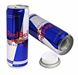 Portaoggetti a forma di lattina Red Bull, per nascondere oggetti di valore, denaro, riserve segrete, contenitore nascosto, 2 pz.