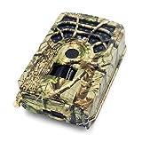 Cámara de caza 5MP 480P Cámara de seguimiento y juego con tarjeta TF de 16GB / 32GB Cámara de caza activada por movimiento Cámara de exploración de vida silvestre al aire libre 46 LED Visión nocturna