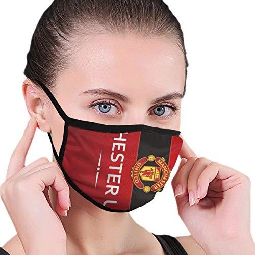 Manchester United Football Club Kinder Verstellbare, mit Mundmuffel Bedruckte, atmungsaktive Gesichtsbedeckung Erwachsenenschutz