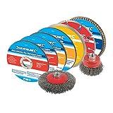Silverline, Set di accessori per smerigliatrice angolare, 12 pz. - 633831...