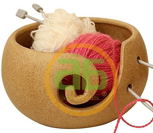 """Today Deals Unique Handmade 7"""" Yarn Storage Bowl Knitting Bowl Perfect for Tangle-Free Knitting and Crocheting an Ideal Gift for Any Occasion Made from Ceramic"""