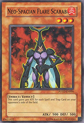 Yu-Gi-Oh! - Neo-Spacian Flare Scarab (POTD-EN004) - Power of The Duelist - 1st Edition - Super Rare