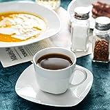 MALACASA, Serie Elisa, Porzellan Tafelservice 30 TLG. Geschirrset mit je 6 Kaffeetassen, 6 Untertassen, 6 Dessertteller, 6 Suppenteller, 6 Essteller - 8
