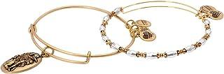 Alex And Ani Sphinx Set Of 2 Rafaelian Gold Bangle Bracelet A17OP04RG