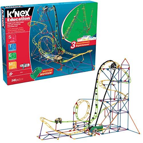 K'Nex 77077 STEM Explorations - Set di montagne russe per bambini dagli 8 anni in su, 546 pezzi