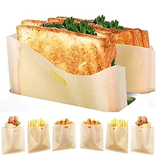 12 Pack Toaster Bags Reusable - Yokgrass 3 Sizes Nonstick Toast Bags...