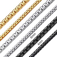 ChainsHouse 75cm 6mm ネックレス チェーン メンズ ゴールド k18 人気 金属アレルギー対応 シンプル ステンレス アクセサリー