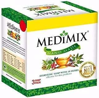 Medimix Ayurvedic Soap with 18 Herbs - 125 g (Pack of 3)