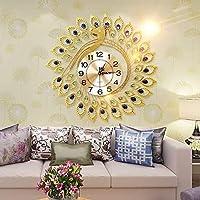 壁掛け時計孔雀の個性庭の装飾の雰囲気ヨーロッパのモダンな創造的なミュート68 * 68CMサイレント非カチカチカラフルな装飾アラビア語、58 * 58cm