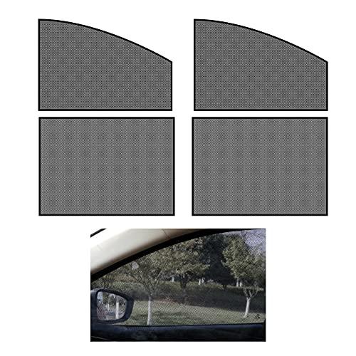 Parasoles para Coche Sombrillas para Ventanas, 4 Piezas Parasol Coche, Cortinas Magnéticas, Parasoles Autoadhesivos, para Boquear los Rayos UV y el Calor (Negro)