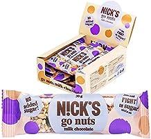 Nicks Go Nuts, zaden & notenrepen met chocolade, zonder toegevoegde suikers, glutenvrij 12 x 30g