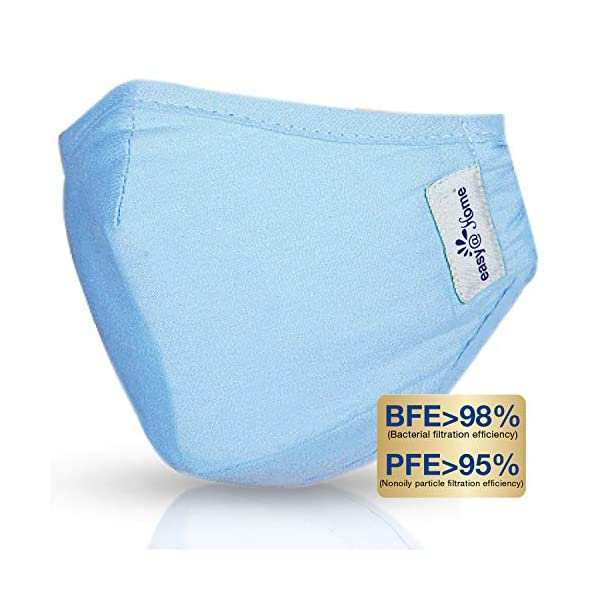 Face Mask, Washable and Reusable Cloth Mask with Filters, Personal Protection with...