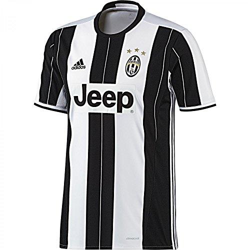 adidas H Jsy Camiseta 1ª Equipación Juventus Fc 2016/2017, Hombre, Blanco / Negro, XS