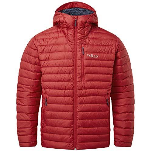 RAB M Microlight Alpine Jacket Rot, Herren Daunen Isolationsjacke, Größe L - Farbe Ascent Red