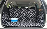 Cargo Liners - Paw Prints Trunk Protector for Dogs - Dog SUV Trunk Cover - Waterproof Car Dog Mat for Van - Washable Dog Accessories
