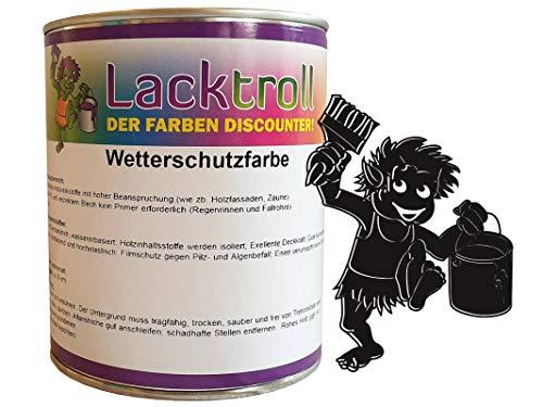 Wetterschutzfarbe Schwarzbraun RAL 8022 Gebindegröße 750 ml