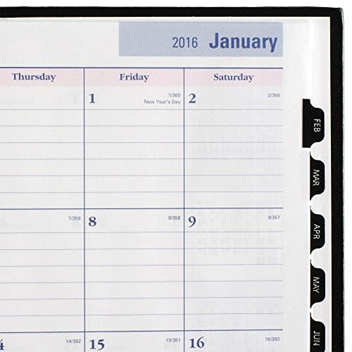DayMinder Monthly Planner 2016, Premiere, Breast Cancer Awareness, Pink Ribbon, 7.88 x 11.88 Inches, Black (G470P-00) Photo #7
