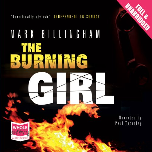 Burning Girl audiobook cover art