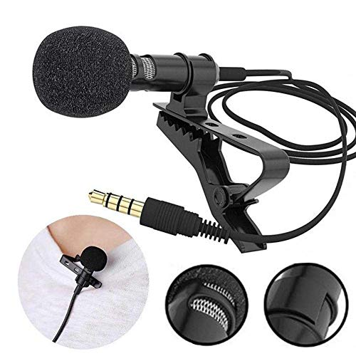LXCN® Dynamic 3.5mm mic Clip Microphone For Youtube, Collar Mike For Voice Recording, Lapel Mic Mobile, Laptop, Android Smartphones