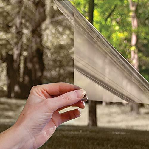 LC&TEAM Spiegelfolie Fensterfolie selbsthaftend Sonnenschutzfolie Sichtschutzfolie Verdunkelungsfolie Spiegel Tönungsfolie Wärmeisolierung UV-Schutz Fenster Folie Braun 90 x 200 cm