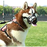 SHUNAI Pet Dog Muzzle, Soft Basket Rubber Muzzle Dog Ergonomics, Small Medium Large Dog Muzzle to NO Biting, Chewing, Barking, Adjustable Breathable Drinkable (5-Snout 12.9~14.9'')