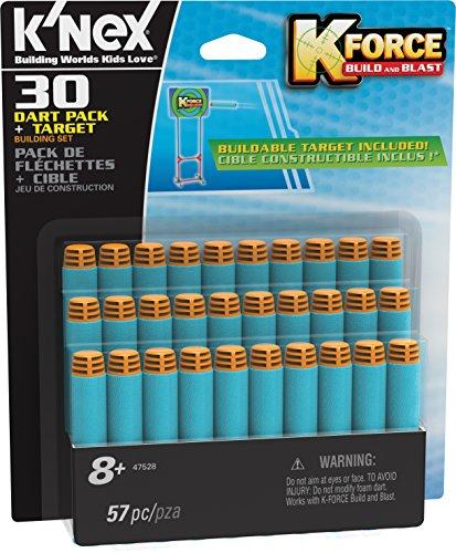 K'Nex 47528 - Envase con 30 Dardos Soft Target, Multi