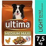 Ultima Croquettes pour Chien Medium-Maxi Light Poulet/Riz - 7,5 kg