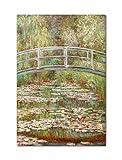 Bridge over a Pond of Water Lilies Claude Monet Painting Fridge Magnet
