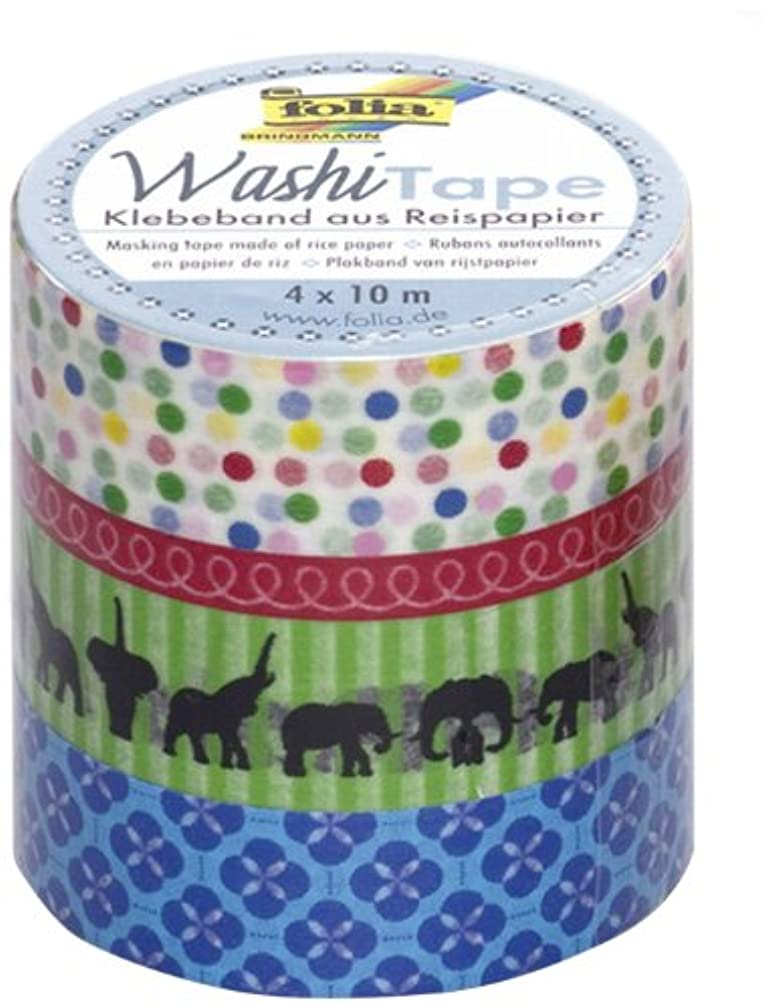 folia 26404 Happy Birthday Washi Tape Set of 4
