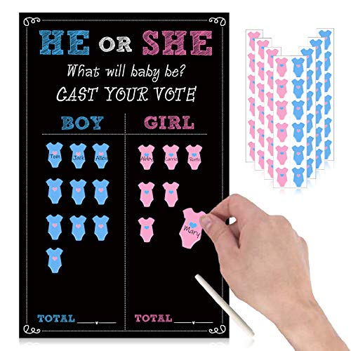 Gender Reveal Party Games Poster - Cast Your Votes Game