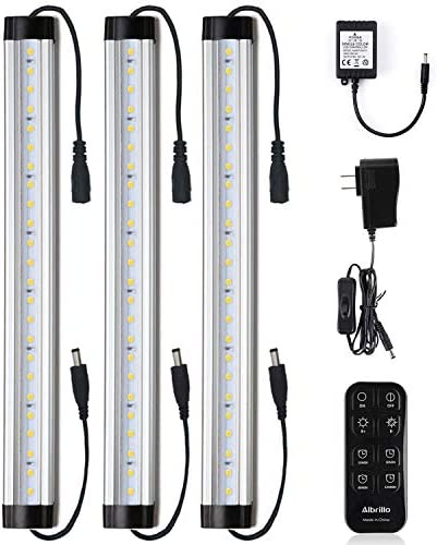 Under Cabinet LED Light Bar Kits Remote Control Albrillo Dimmable 12 inch Light Bars Daylight product image