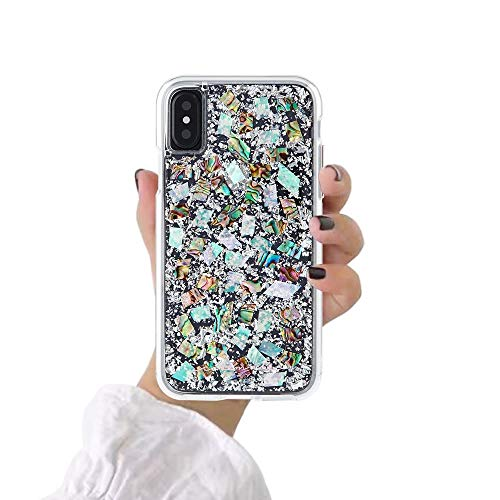 YXY·CF iPhone Xs Max Case - Karat - Real Mother of Pearl for Apple iPhone Xs Max (6.5 inch)
