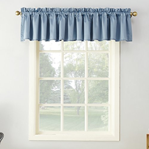 "Sun Zero Barrow Curtain Panel, 54"" x 18""-1, Vintage Blue"