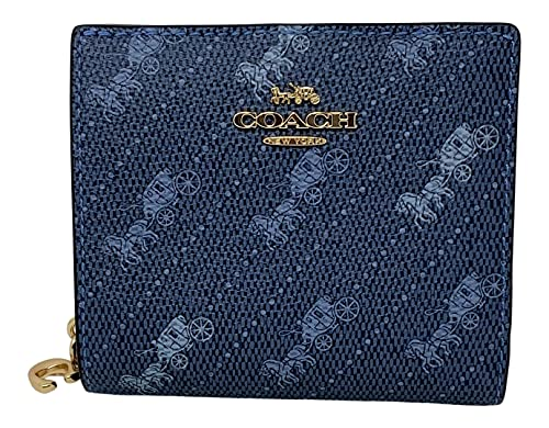 Coach Horse and Carriage Print Snap Wallet Denim Style No. C4104