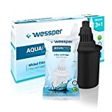 Wessper 4 AQUApro Alkaline Water Filter Cartridges-7-phase ionizing Filtration System - Antioxidant Water,...