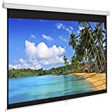 Best Choice Products 119in HD Indoor Pull-Down Manual Widescreen 1:1 Gain Projector Screen for Home Theater, Office, Entertainment - White