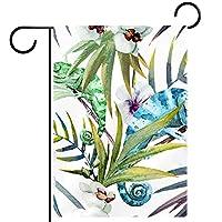 ガーデンヤードフラッグ両面 /12x18in/ ポリエステルウェルカムハウス旗バナー,葉
