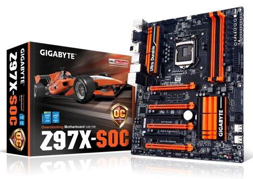 Gigabyte GA-Z97X-SOC S1150 Motherboard (ATX VGA, SND, GLN, U3 SATA, 6GB, DDR3 Speicher)
