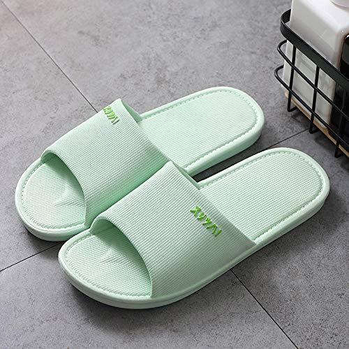 Sandalias de baño antideslizantes, antideslizantes, sandalias de masaje, 27, color verde