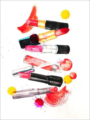 Posterlounge Acrylglasbild 60 x 80 cm: Lippenstift Sammlung von Rongrong Devoe - Wandbild, Acryl...
