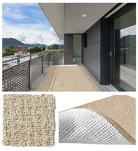 Koeckritz Rugs Runner 2.5'x9' Straw Weave Casual Boucle Level Loop 20 oz Olefin Indoor-Outdoor Area Rug Carpet