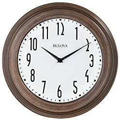 Bulova Clocks C4863 Beacon Clock, Dark Wood