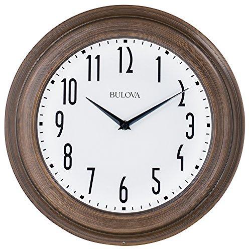 Bulova Clocks C4863 Beacon Clock, Dark Wood