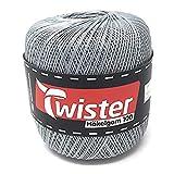 Ganchillo hilo Twister–Plata–100g