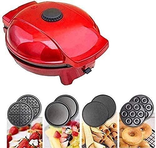 Verabschieden Sie sich Panik / ordentlich IN Frühstück 4 1 Nonstick Muffin Maker Sandwich Muffin Maker Multifunktionale Temperaturregelung Doppelseitige Heizung gleichmäßig beheizt Kuchen Crepes Egg R