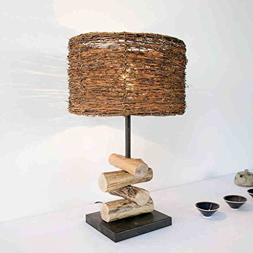 CCLL Lámpara de Noche Decorativa Creativa Simple de la lámpara de Madera del Zen Lámpara de Lectura Caliente del Dormitorio Otra lámpara de la Rota Reading Lamp (Color : B)