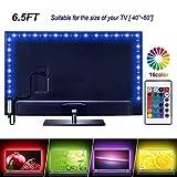 Striscia di luci LED 2 m per TV da 106-60', 16 colori cangianti 5050 LED per HDTV, kit di retroilluminazione USB LED con telecomando