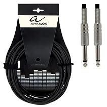 Alpha Audio 190000 Basic Line Instrumentenkabel (3m, Monoklinke)