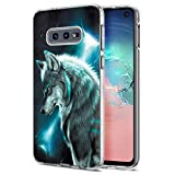 Yoedge Case for Galaxy S10e, Phone Case Transparent Clear with Pattern [Ultra Slim] Shockproof Soft Gel TPU Silicone Back Cover Bumper Skin forSamsung Galaxy S10e Smartphone (Wolf)